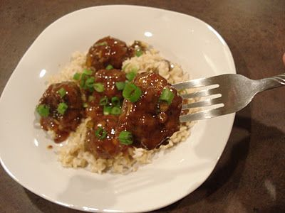 Spicy Sweet Mango Meatballs (Dessert Now, Dinner Later)