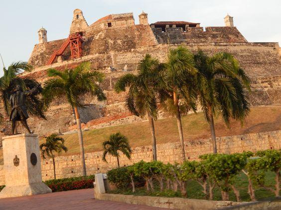 Castillo San Felipe de Barajas en Cartagena de indias.