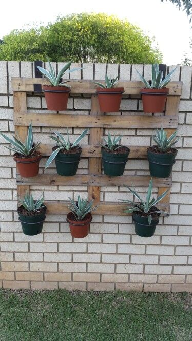 Pallets with flower pots