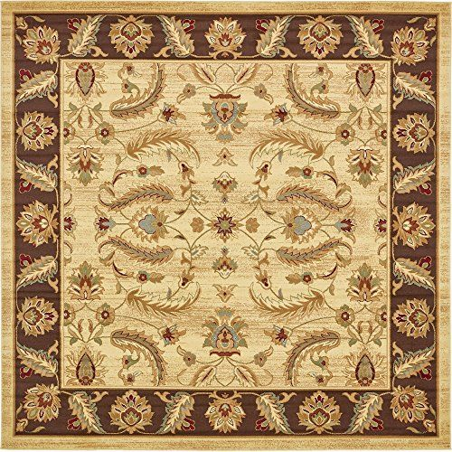 Unique Loom Agra Collection Cream 10 Ft Square Area Rug 10 X 10 Best Value Buy On Amazon With Images Square Area Rugs Vintage Kitchen Decor Area Rug Runners