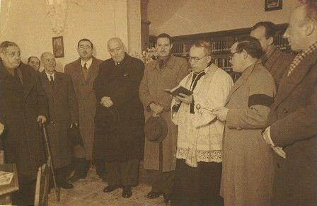 "Inauguración de la Biblioteca Pública ""Ramón Menéndez Pidal""  en Pola de Lena 1946"