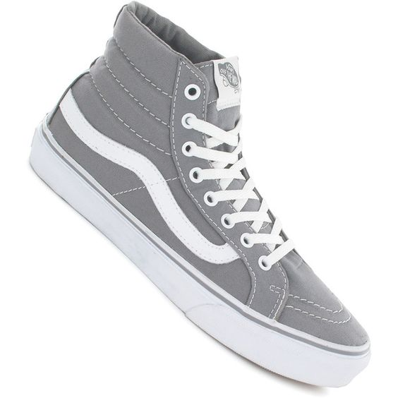 Vans Grey And White