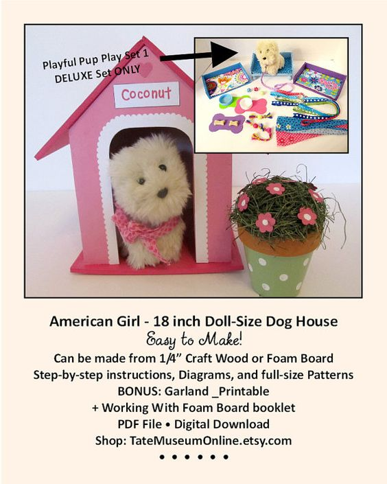 american girl 18 inch doll house playful pup deluxe pattern dog house bed furniture pattern accessories bonus guide digital download pdf american furniture patterns