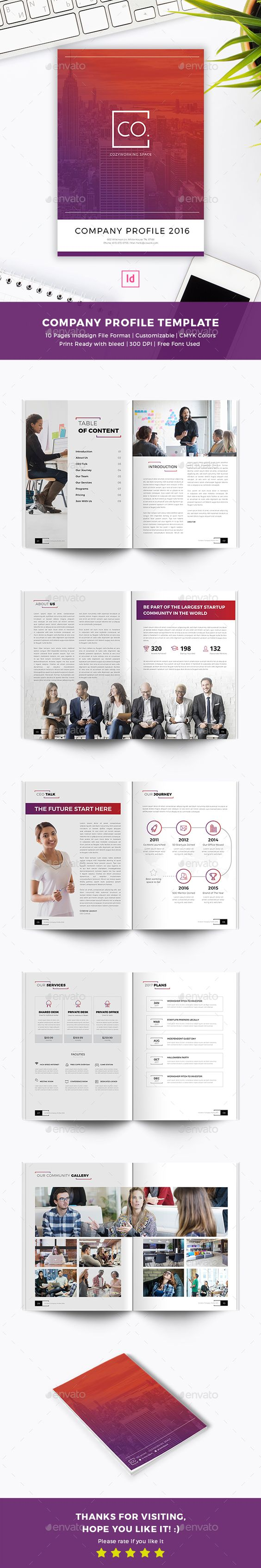 cowork company profile indesign template templates brochures cowork company profile template indesign indd