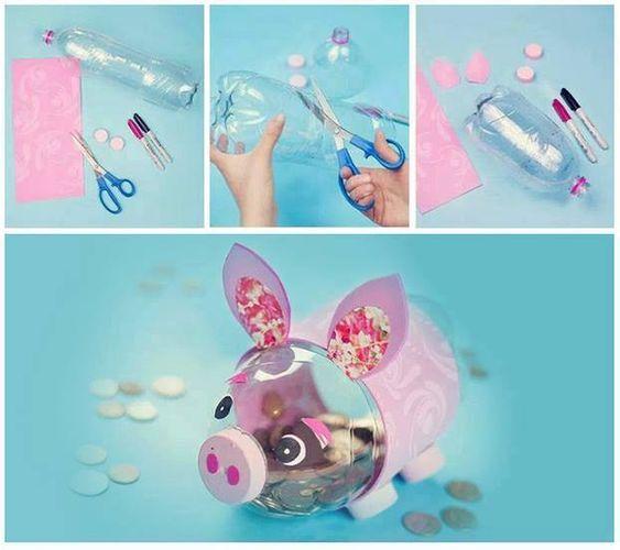 Manualidades faciles con botellas de plastico navidad - Manualidades de ninos faciles ...