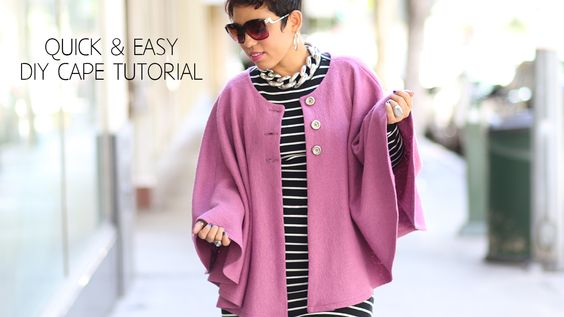 ON THE BLOG: New FREEBIE #DIY Cape Sew-Along & Tutorial #SewingIsSexy