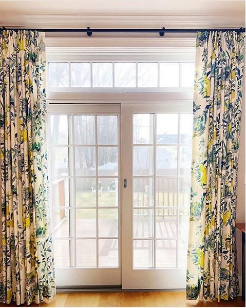 Hanging Curtains Over French Doors Transom French Doors