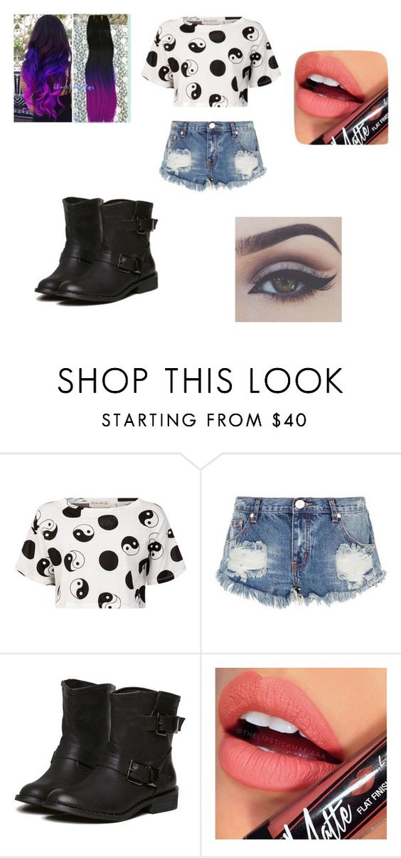 """""""Untitled #67"""" by martinezjorge ❤ liked on Polyvore featuring Belleza, Être Cécile, One Teaspoon y Fiebiger"""