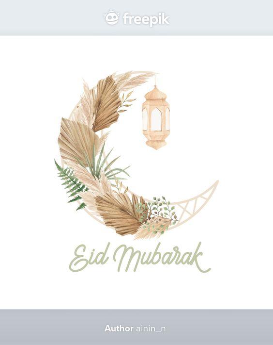 Gambar ucapan selamat Idul Fitri 2021. (Pinterest/freepik.com)