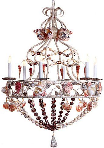 Sea shells Shells and Shell chandelier on Pinterest