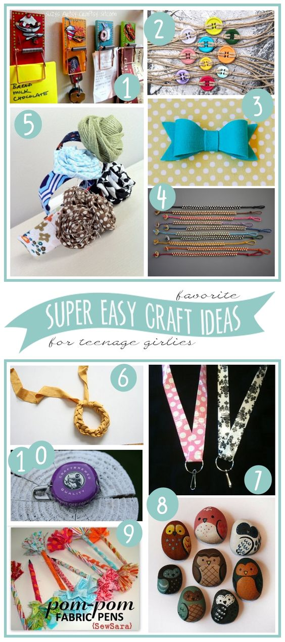 10 super easy craft ideas to make with teenage girls