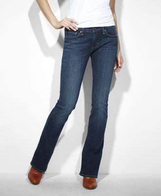 Modern Rise Slight Curve Bootcut Skinny Jeans - Blue Drama - Levis