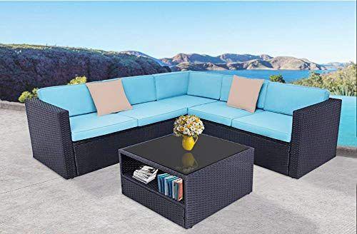 Incbruce Outdoor Patio Furniture Sofa Set 4 Piece Conversation Sectional Sofa W Premium Wicker Sturdy Furniture Sofa Set Beige Pillows Outdoor Patio Furniture