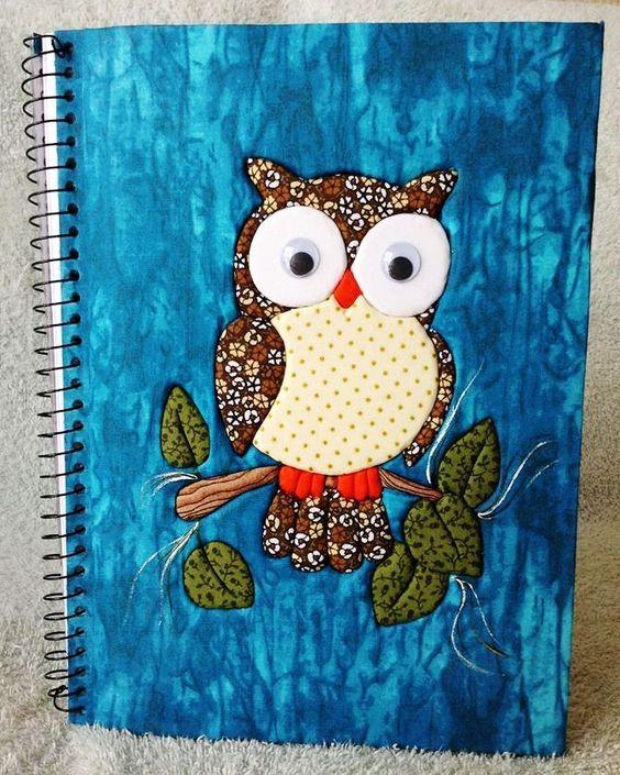 Caderno em Patchwork Embutido ou sem agulhas!