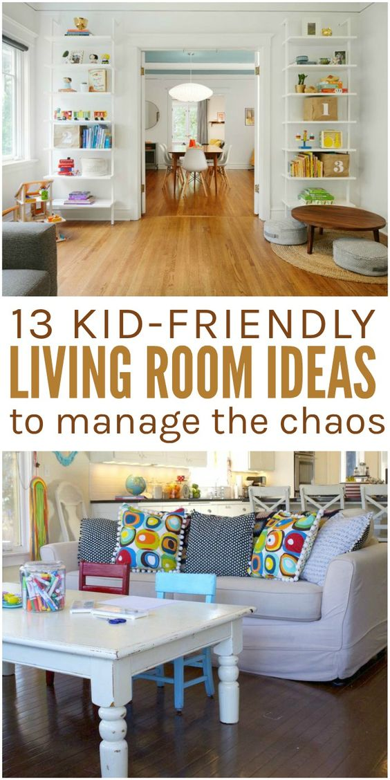 The perfect combination of pretty and functional, these kid friendly living room ideas will make your family living area better for the whole family. via @leviandrachel