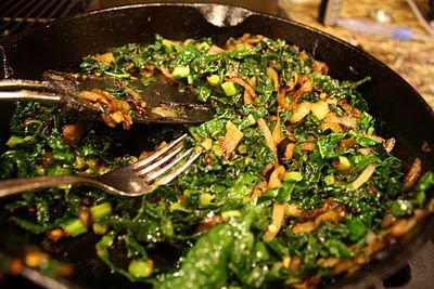 i love cooking with kale