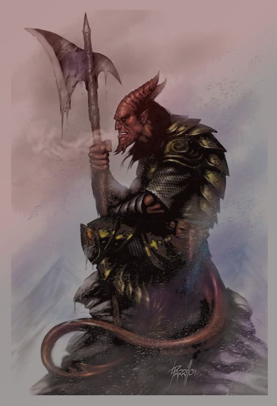 Need A Tiefling Warlock With A Spear Pic! - Warlock - Class