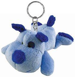 Dog (Blue) Plush Keychain Stuffed Animal by Puzzled