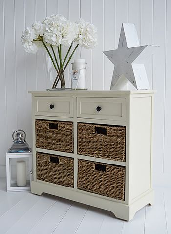Cambridge Cream Sideboard With Basket And Drawer Storage For
