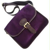 Bus Conductor Mini Sling Bag in Purple