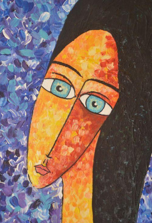 """Mujer I""  Acrílico sobre tela  40 x 30cm"