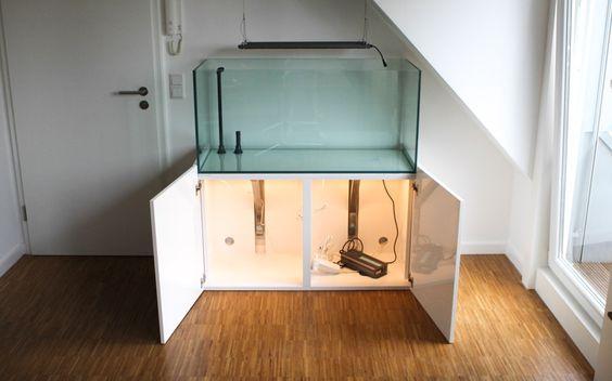 Aquarien Unterschrank Eigenbau beleuchtet - AQUACHARTS Aquaristik Magazin