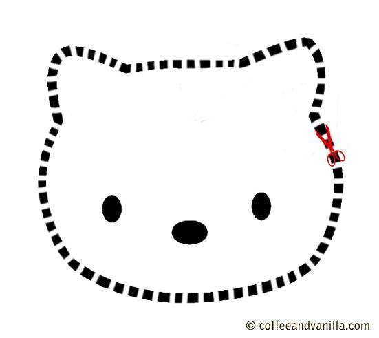 hello kitty cake template 300x267 Hello Kitty Party BIRTHDAY CAKES