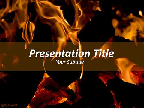 Free Fire Flames Powerpoint Template Powerpoint Templates