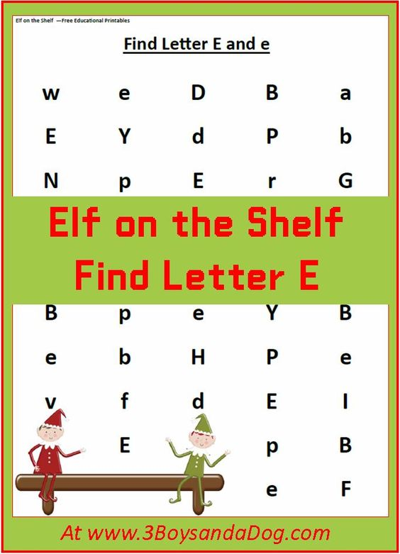 find the letter e is for elf christmas printable worksheets homeschool student centered. Black Bedroom Furniture Sets. Home Design Ideas