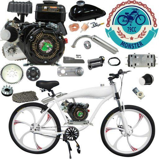 Chain Drive 79cc 4 Stroke Motorized Bicycle 26 Inch Bbr Motor