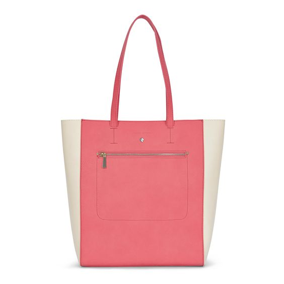 Colour Block Unlined Shopper at Laura Ashley #bright #pink