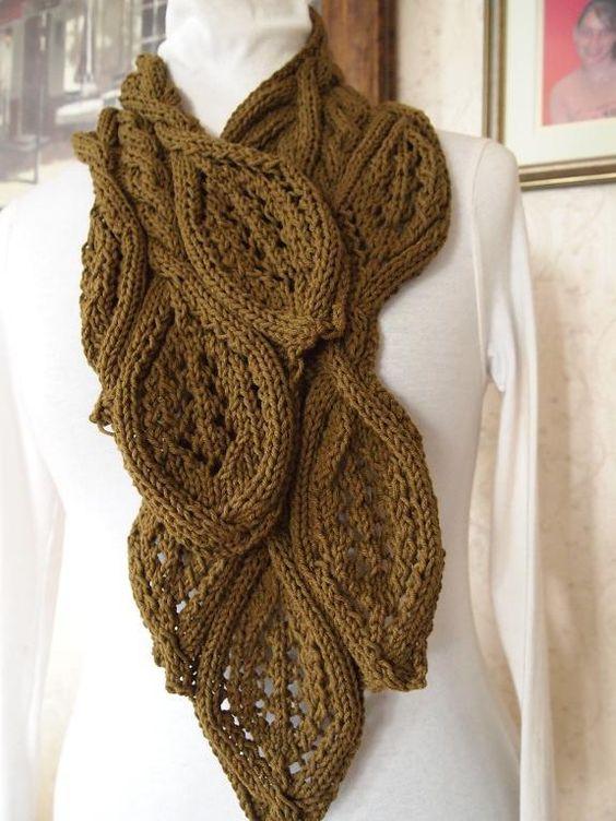 Oats Scarf. Knitting. Intermediate - Advanced. $6.00 USD: