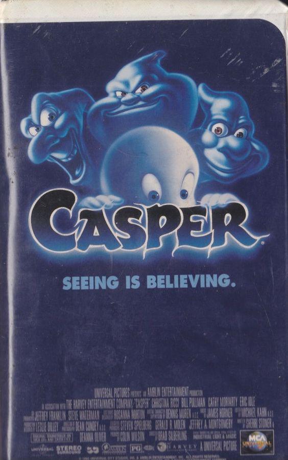 Casper (VHS, 1997, Clamshell) Steven Spielberg Live Action PG Christina Ricci