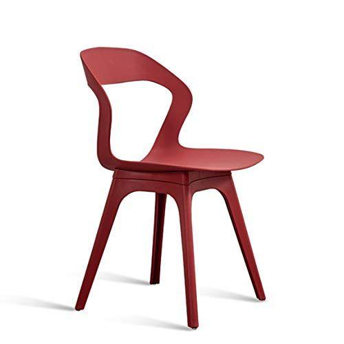 Lrw Nordic Leisure Chair Restaurant Modern Minimalist Chair Red
