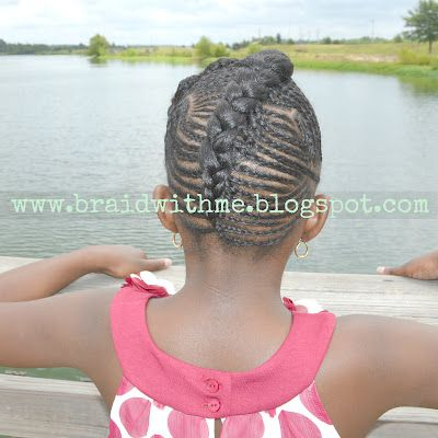 Beads, Braids and Beyond: Intricate Cornrow Updo on Natural Hair