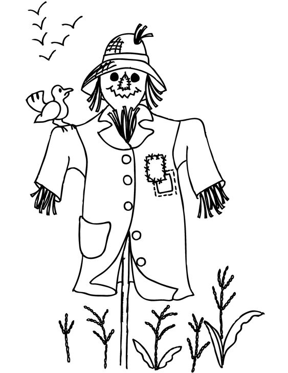 scarcrow color sheet free printable scarecrow coloring pages for kids