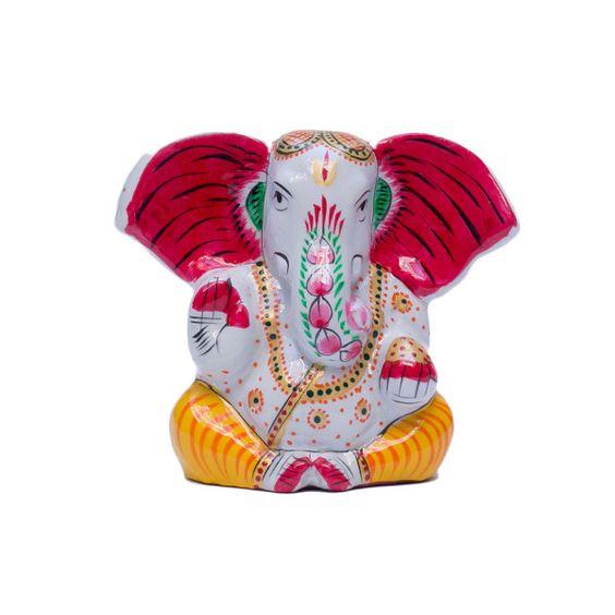 Elefante de bronce pintado a mano