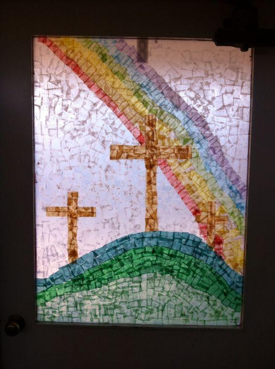 Tissue window art