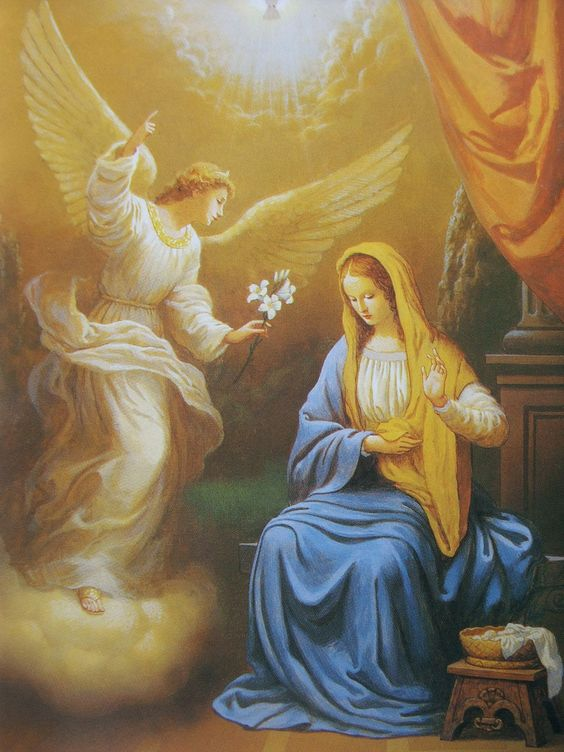 Mother Mary and Angel: