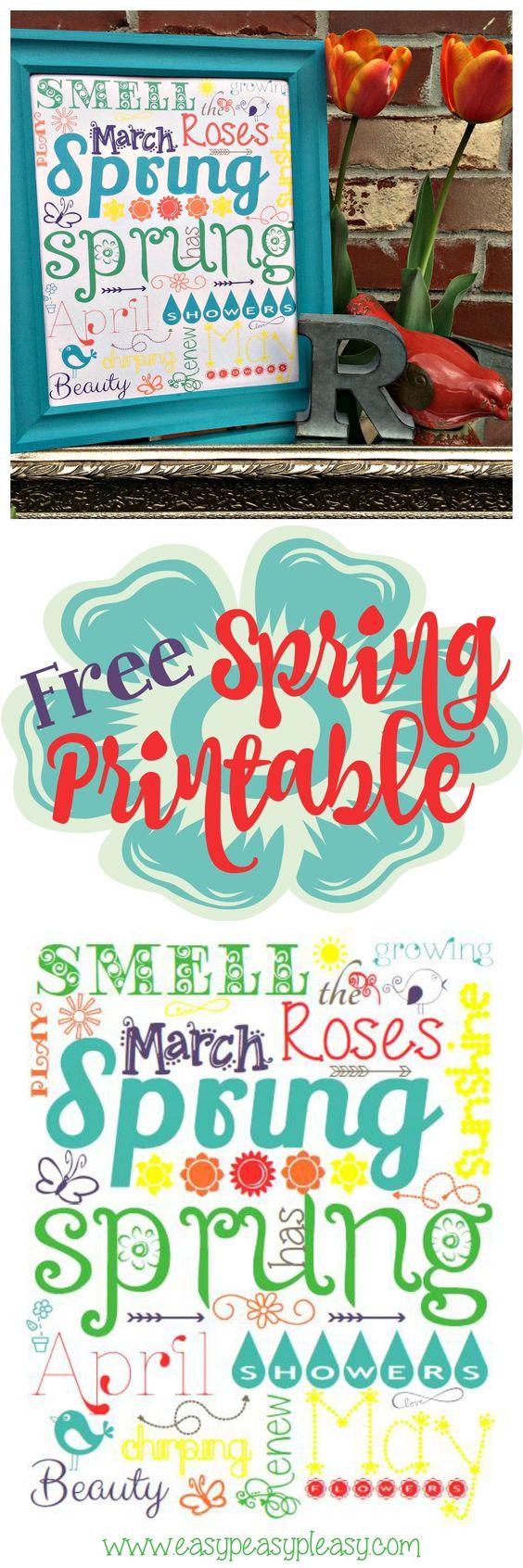 Free Fun Spring Printable via Easy Peasy Pleasy