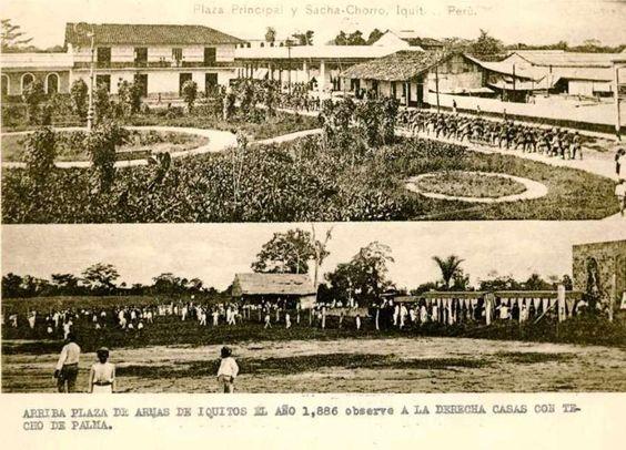 Plaza Principal (hoy Plaza de Armas) y la zona de Sachachorro, en 1886