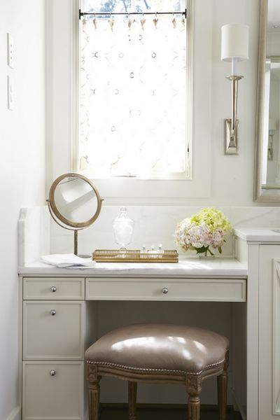 Master bath cabinet color with carrera marble top jane for Master vanity ideas