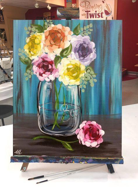 48 Ideas Flowers Vase Drawing Sketch Tuval Sanati Akrilik Tuval