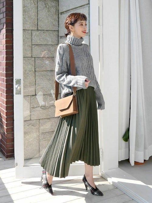 ディーホリック dholic dholicのニット セーターを使ったコーディネート wear ファッション レディース 20代 ファッション 秋冬 ファッション トレンド