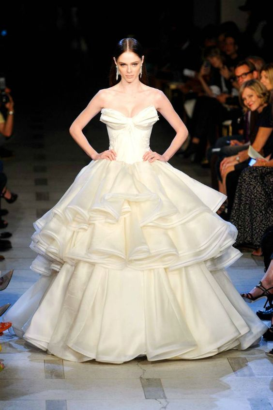 Zac Posen's Iconic Ball Gown Look at Spring 2013 Runway Show   #bridal