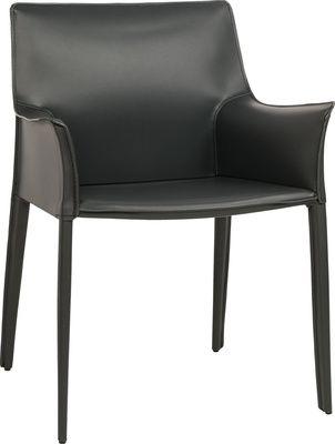 Cechy i korzyści: Stylowy, wygodny fotel który może pełnić rolę wygodnego siedziska przy stole. Głębokość powierzchni siedziska to aż 40cm. Dzięki temu fotel daję swobodę siedzenia. Skórzane obicie ...