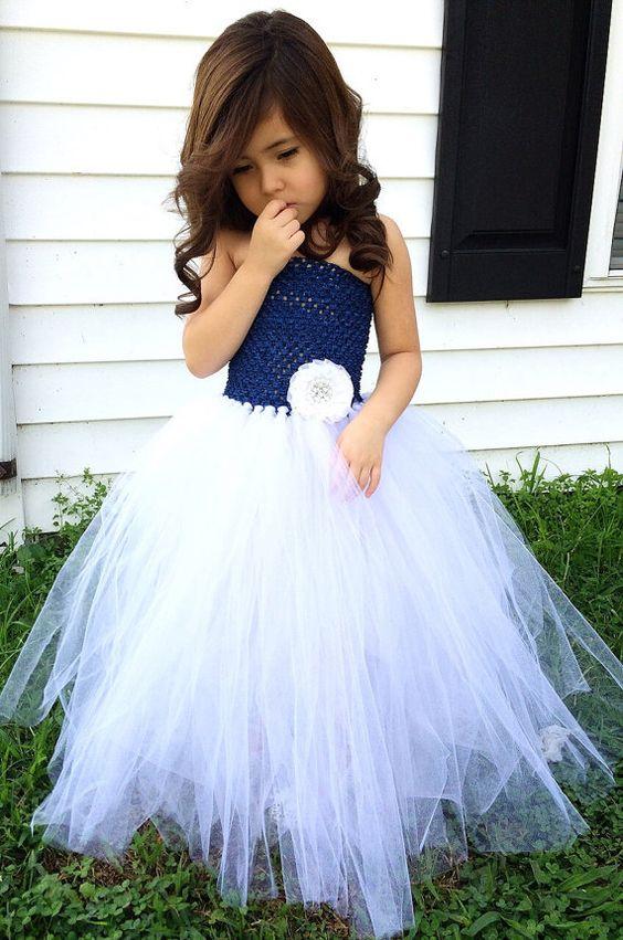 Vestido de novia Marina azul y blanco de Florista por krystalhylton