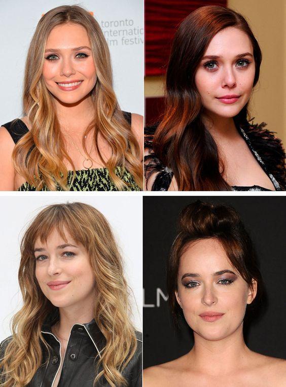 ¡De rubias a morenas! Y es que las celebrities no paran de cambiar el color de sus cabellos. Elizabeth Olsen y Dakota Johnson se unen a estos cambios de color.