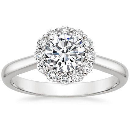 Platinum Lotus Flower Diamond Ring from Brilliant Earth CAD $1940