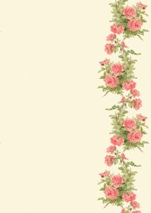 Wings of Whimsy: Peach Roses Paper 2 - free for personal use: